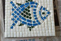 Mosaic Trivets / My first mosaic trials.