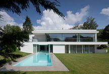 "Villa von Stein / The clients dream of a ""Los Angeles loft feeling"" came true in Frankfurt, Germany."