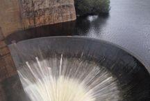 Dique San Roque en febrero 2014 / Las intensas lluvias y la crecida de los ríos elevaron al máximo el nivel del lago San Roque y el dique, por lo que el agua superó en casi 1 metro el nivel del vertedero.