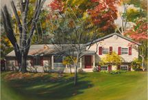 Home Portraits / Custom paintings made of your childhood home; Dad's hunting cabin; the little place you lived when you first married; that vacation villa you can't stop daydreaming about...