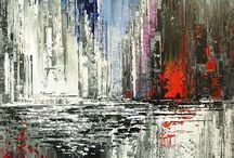 abstrait blanc bleu noir rouge