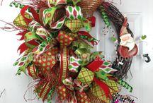 Рождественские Венки с лентами