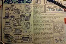 Journaling / Il mio diario giornale.  Esempi di Journaling e caratteri di scrittura