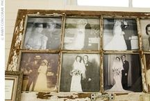 old family picture window frame