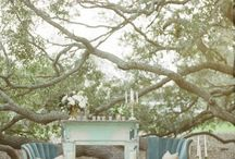 """I Do - Betsey Blue / A romantic inspired wedding with sleek silhouettes, antique decor and vintage lace. Say """"I Do"""" in hues of peach, mint and gold and don't forget bursts of florals for a touch of whimsy.   / by DJ"""