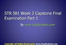 STR 581 WEEK 2 CAPSTONE FINAL EXAM PART 1