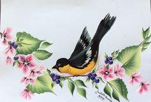 Birds / Handpainted birds