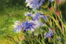 цветы ( акварель)