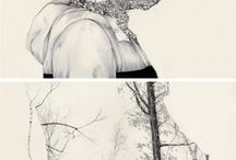art collection / line art , etching , engraving , monochromatic , vintage art. #annadeligianni