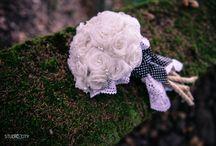 wedding flowers / handmade bouquet