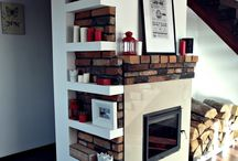 MY HOME / Fireplace, living room, brick