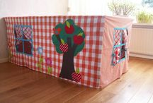 Table top fabric cubby house