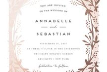 Feminime wedding invitation