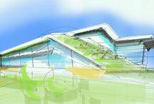 ANSA Design Sketches / Mimari tasarım eskizleri. Architectural design sketches.