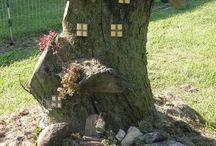 Bahçe ağaç süsleme