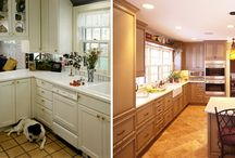 "Before & After: / A look at the ""Before and After"" of our many projects and what 1st Choice Home Improvements can do for you!    Contact us 1st Choice Home Improvements today, for a free estimate and see how we can help freshen up your kitchen too."