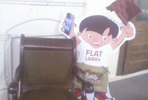Flat Larry's Adventures!  / Flat Larry sure knows how to have FUN and ENGAGE the community!