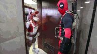 deadpool v.s fake foxy