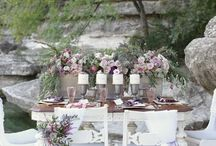 dusty pink + neutral green wedding / Tuscany neutral greens meet dusty pinks - wedding palette