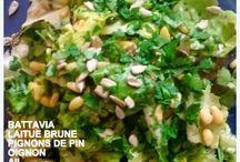 SALADES JOYEUSES / Des salades de légumes, la plupart du temps de légumes crus. Elles sont toutes simples, avec les legumes locaux de mon maraîcher du marché