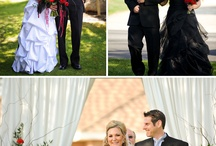 red, white, and black wedding ideas / by Christina Johnson