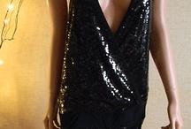 Vestito nero in paillettes tg L