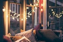 String Light Ideas / String lights aren't just for Christmas anymore.  Check out these ideas to brighten your spaces all year round!