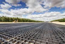 Eko kratka na lotnisku trawiastym / Zastosowanie kratki trawnikowej geoPRODUCT na pasie startowym