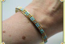 Joncs bagues et bracelets / Tissage à l'aiguille de perles delica miyukis, montage sur bracelet et bagues joncs. Personnalisation possible. Créations disponibles sur : http://www.alittlemarket.com/boutique/lydeedeco-49362.html http://fr.dawanda.com/shop/lydeedeco https://www.etsy.com/fr/shop/LyDDco https://www.facebook.com/lydiedeco/