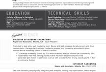Resume designs / by Kaitlin Moroney