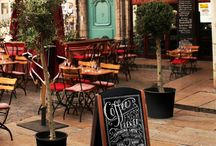 Bar, restaurant and hotel furniture / Hospitality space equipment, chalk boards, digital signage holders, hotel and restaurant furniture.