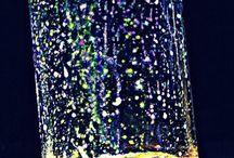 Jar, glitter etc