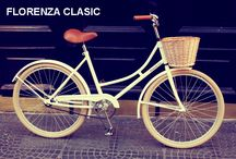 Bici modelo Florenza Clasic / Modelo Florenza clasic en blanco mate, con canasto, asiento de simil cuero, pedales de goma y timbre.