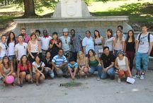 PARQUE DEL OESTE. AGOSTO DE 2014. / A finales de agosto de 2014 los alumnos de español para extranjeros pudieron disfrutar de una visita y actividad por el Parque del Oeste, en la zona de Moncloa, cerca de la Academia Paraninfo.