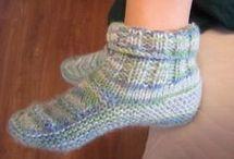 sapatilhas de trico e croche