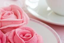 Pink roses!!!#@cake and cupcake#@!!!!!!!!