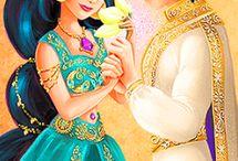 Disney Aladdin , aladdin  and jasmine