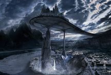Fantasy Architecture / A collection of mental-prompts; excellent for writing, meditating, or generally just losing oneself within. A mix of real, surreal, fantastic, and imaginary pieces of architecture that captivate my mind.