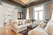 Home Decor - Living Room / Ideas for decorating the home in the transitional style, a simple but sophisticated mix of traditional and contemporary design that employs a subtle color palette, straight and curved lines, textured fabrics, and minimalistic accessories. / by Elizabeth Butt