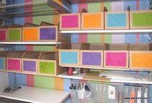 casiers de rangement en carton
