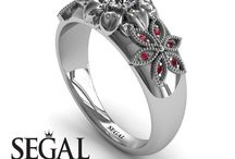 White Gold Engagement Ring / White Gold Engagement Ring