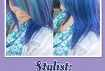 Purple blue mermaid hair