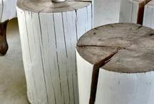 Souche/tronc peint - Inspiration Maison