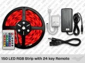 RGB LED Srip kits / RGB LED strips are the most versatile LED lighting solution available. Our complete kits include everything that you need and are easy to install. Each LED module on the strip contains 3 diodes, one green, one red and one blue. By controlling the intensity of each color, you can create a fascinating array of colors and color changing modes.