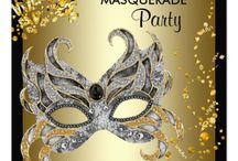 Invitations : Mardi Gras Parties / here are some invitations by me (MarloDee Designs) and many other by very talented designers/artists ... click on the larger image or the website button on the pin - to get pricing information and how to customize it with your party information ...