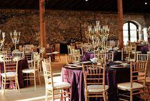 NYC Art Deco Wedding Reception Details & Venues / Art Deco wedding reception - vintage silver holloware & flatware,  mercury glass, metallic accents, candles. Set in Manhattan.