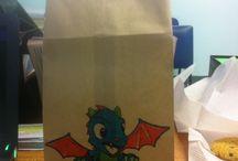 Fiesta tematica dragon / El pequeno dragon Isaac cumple un ano