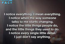 I notice...