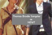 Thomas as Newt