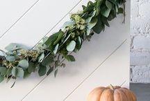 Fall Decor / Fall Decor, DIY decor, white pumpkins, eucalyptus, cozy up for fall